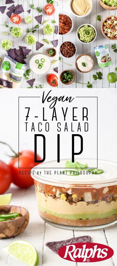 Vegan 7-Layer Taco Salad Dip Cups