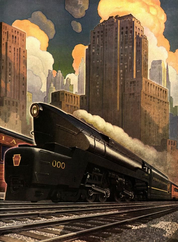 A great image of the Pennsylvania Railroad.
