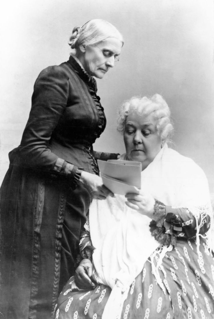 Susan B. Anthony and Elizabeth Cady Stanton - In 1848, they and Lucretia Mott  held the first convention in the US to work toward women's suffrage. 72 years later, in 1920, the 19th amendment became law and women finally got the right to vote. Sadly, these visionaries did not live to see that happen. Thank you, ladies, and all the countless others you trained to follow in your footsteps.