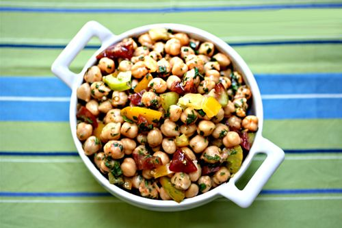chickpea salad with red curry and tomatoesRed Curries, Salad Recipes, Chickpeas Salad, Beans Salad Recipe, Bean Salads, Second Rules, Garbanzo Beans Salad, Chickpea Salad, Food Recipe