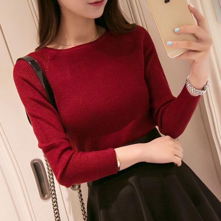 2016 Mùa Thu Mùa Đông áo len cashmere phụ nữ thời trang sexy o-cổ lớn phụ nữ áo len và áo thun ấm Dài tay áo Len Dệt Kim