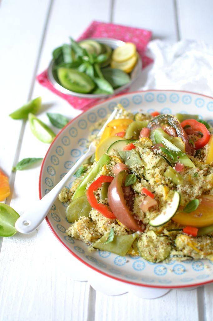 Salade de semoule aux légumes d'été, sésame et menthe { Concours inside }