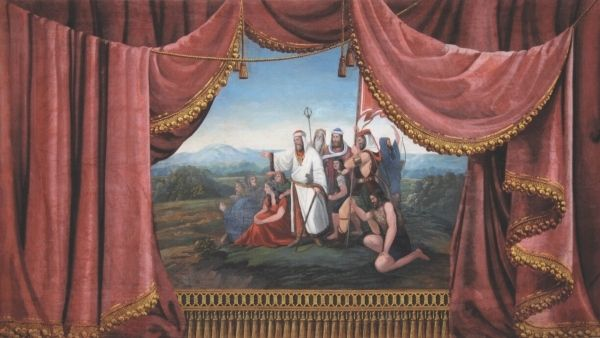 In the Museum is installed The Jabkenice's Amateurs Theater Curtain, canvas measuring 465 x 320 cm. In the center of the whole canvas is a figurative famous scene of Czech history, Forefather Czech arriving on the hill Rip. The picture was painted by Betty Smetana, second wife of B.S.,she was inspired by a paintings of  Czech painter Anthony Lhota and lined with rich draperies.