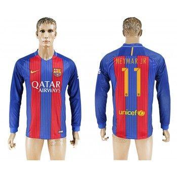 Barcelona 16-17 Neymar Jr 11 Hemmatröja Långärmad   #Billiga  #fotbollströjor