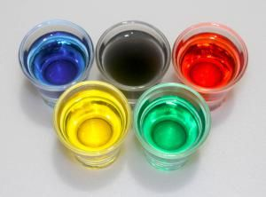 Use chemistry to turn solutions the colors of the Olympic Rings. - Anne Helmenstine