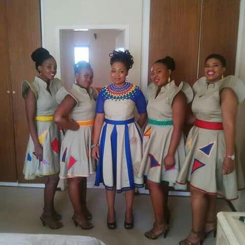 I love this Zulu wedding traditional attire.