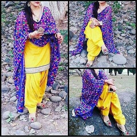 70f658fcf1 Simple yellow suit with phulkari dupatta | Punjaban in 2019 | Panjabi suit,  Indian suits, Yellow punjabi suit
