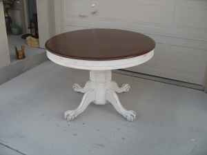 Shabby Redo For You !: Claw foot Oak Table Redo