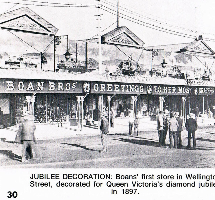Boan Bros decorated for Queen Victoria's diamond jubilee, Wellington Street, Perth, 1897