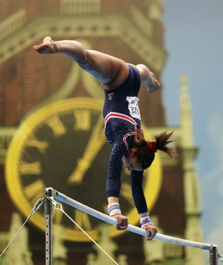 Becky Downie (Great Britain) on uneven bars at the 2013 European Championships