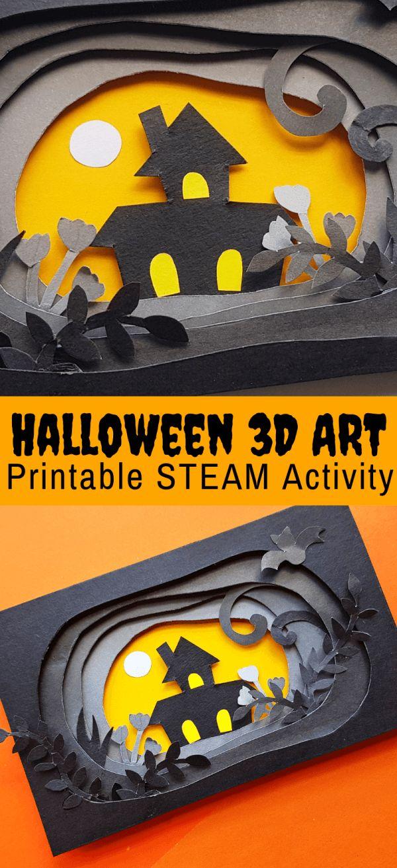 Halloween Paper Craft in 3D (KOSTENLOS bedruckbar) | Mülleimer für kleine Hände   – Halloween
