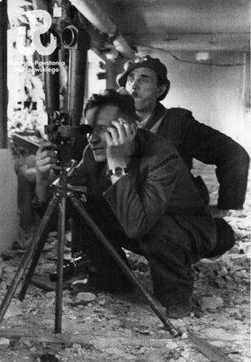 Poles using a rangefinder on German positions. - Huge Collection Of The Warsaw Uprising Photos 18  Page 3 of 3  Best of Web Shrine