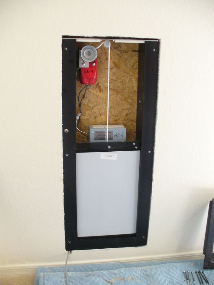 this is the inside of a solo electronic pet door this part fits inside the