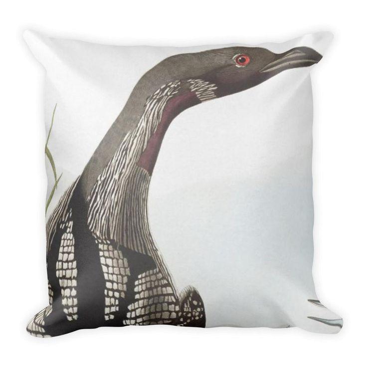 Pillow Audubon Loon Birds Wildlife Animal Throw Pillow