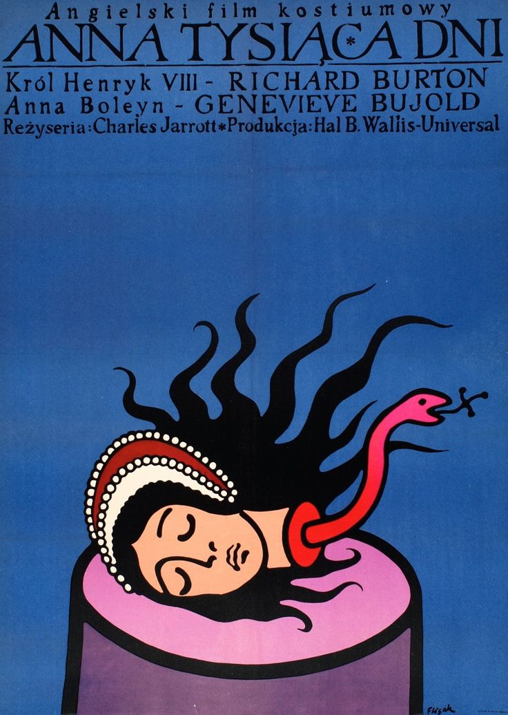 Poster for Anne of the Thousand Days (1969) by Jerzy Flisak
