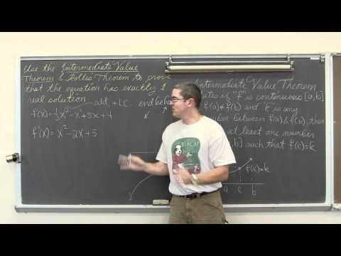 Application of Rolle's Theorem with Intermediate Value Theorem