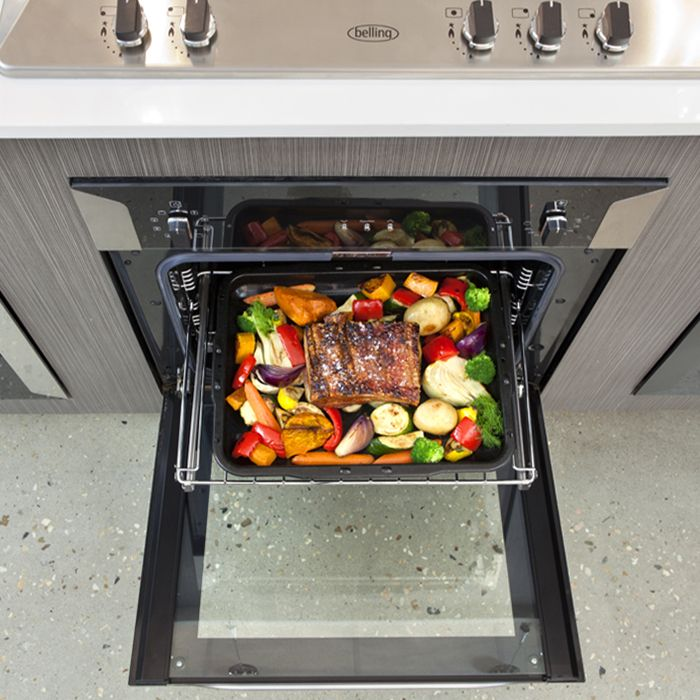 when your inbuilt oven features telescopic shelves you can bring the food towards you
