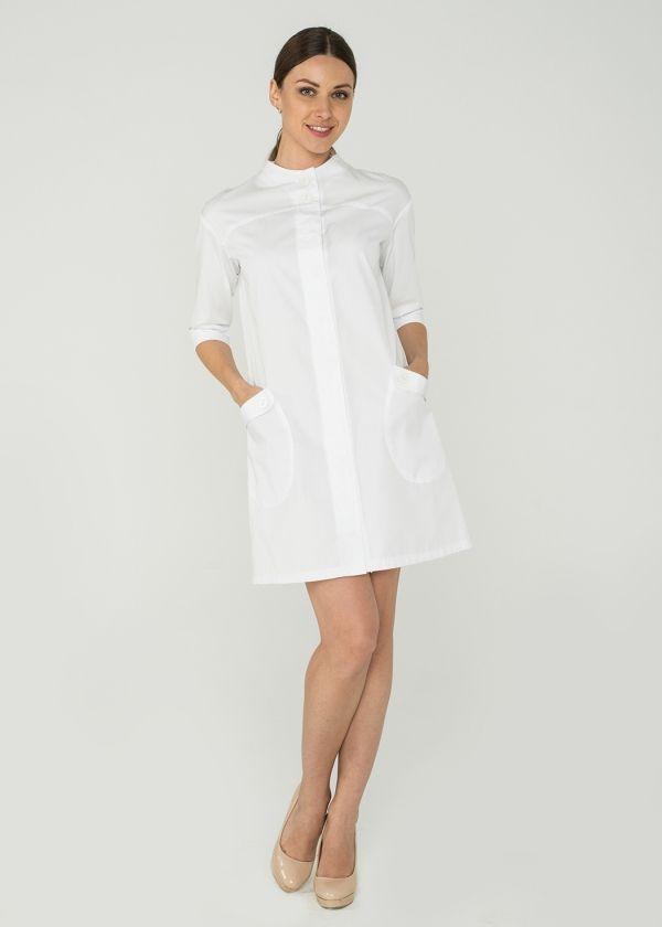 Халат 2.60/ Дизайнерская медицинская одежда www.lechikrasivo.ru #medicine