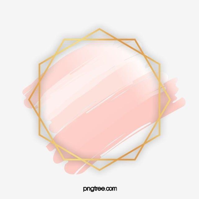 Geometric Rose Gold Border Geometric Wedding Shape Png Transparent Clipart Image And Psd File For Free Download Geometric Rose Gold Clipart Rose Gold Frame