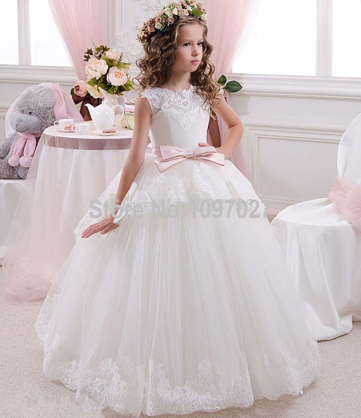 Cheap De encaje De tul princesa Tutu Vestido De bola largas vestidos niña 2016…