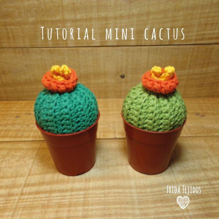 Tutorial Mini Cactus en Crochet