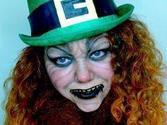 scary leprechaun makeup - Google Search