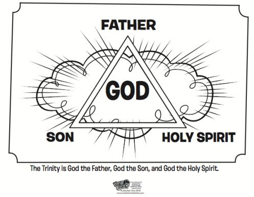 kids coloring page from whats in the bible featuring the trinity volume 10