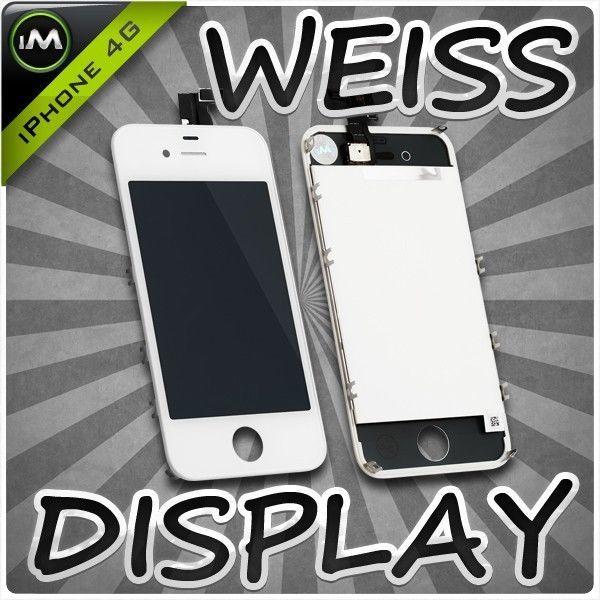 Original iPhone 4 4G Retina LCD + Touchscreen Display Glas Front SET Weiß White