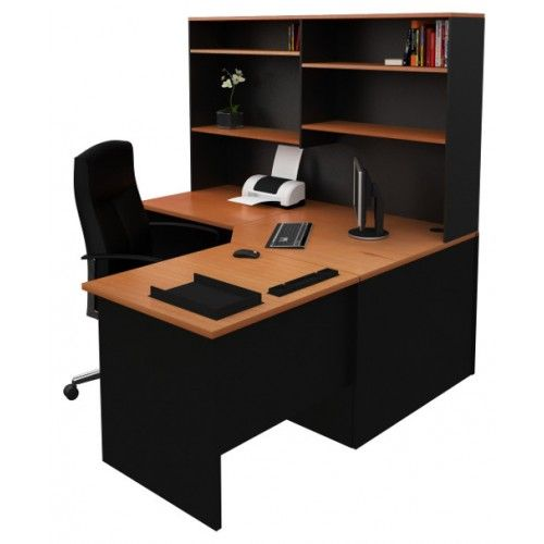 Corner Office Desk Workstation with Hutch, Home Study
