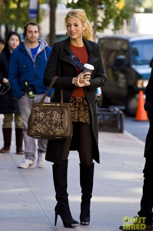 Blake Lively Can I Just Be Her Hair Pinterest New York Style And Boots