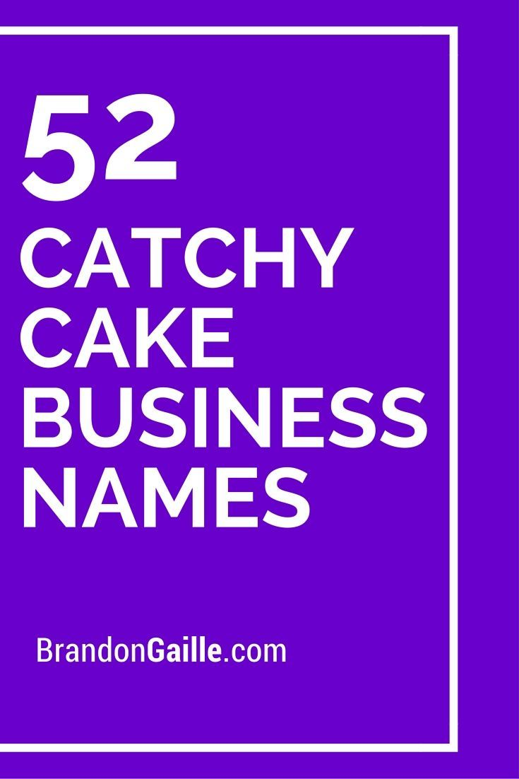 201 Cute and Catchy Cake Business Names | np idees | Cake