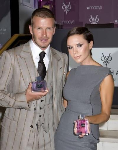 Victoria Beckham and David Beckham perfume