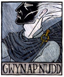 Gwyn ap Nudd is the Welsh God of the Underworld, said to live in the hollow hill of Glastonbury Tor