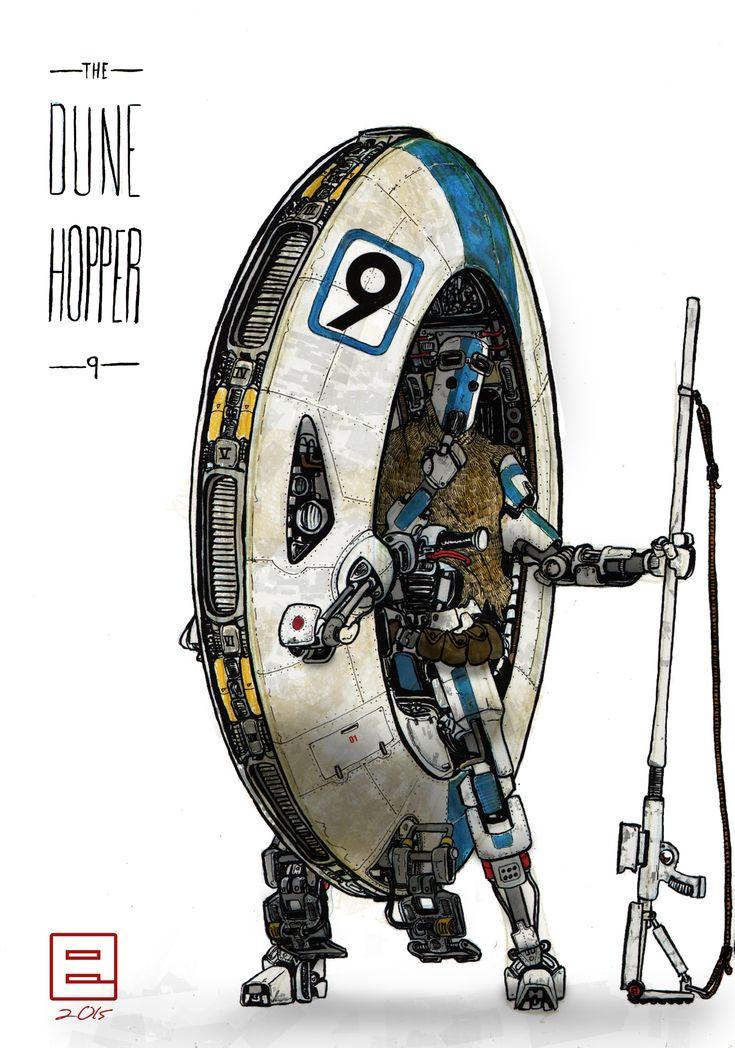 Dune Hopper 9 by Lapo Roccella on ArtStation.