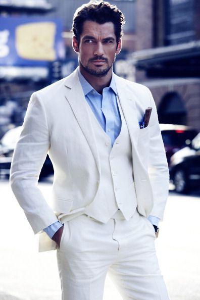 David Gandy in White Suit