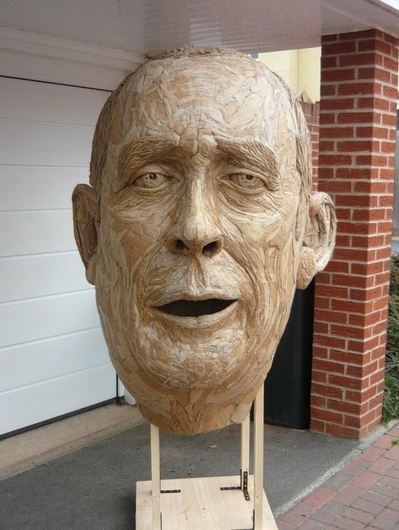 Cardboard Portrait Of David Rushbrook Cardboard Art