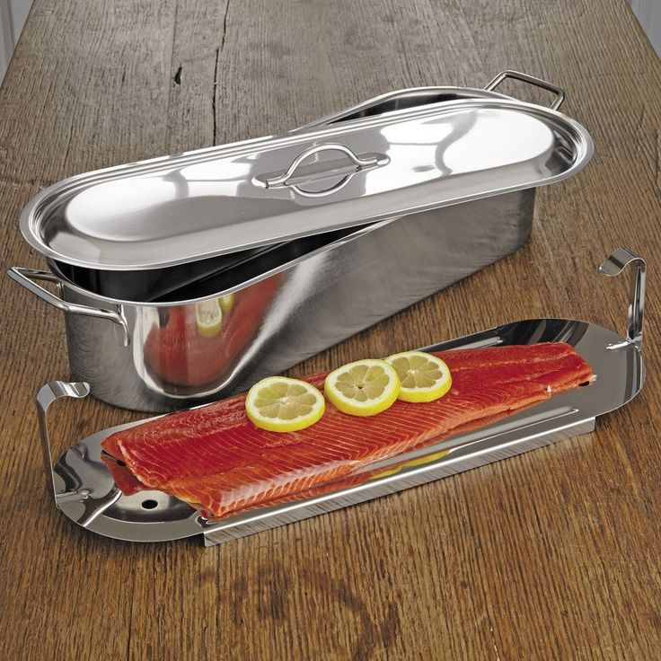 RSVP Endurance Stainless Steel Fish Poacher Pan with Handles, 18 x 7 Inch >>> Tried it! Love it! Click the image. : Specialty Cookware