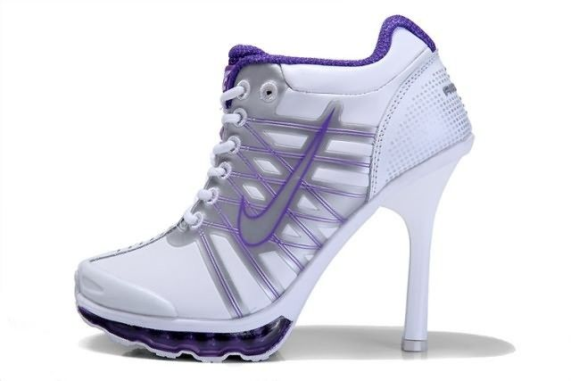 Air Max 2009 High Heels Nike White Purple