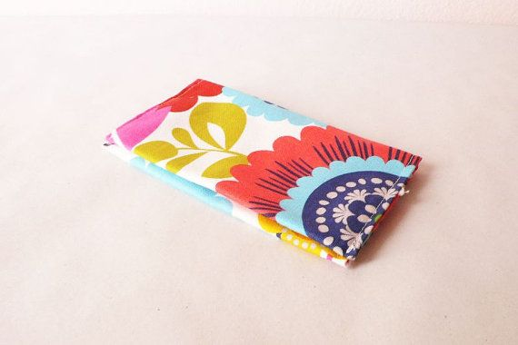 Tobacco pouch  rolling cigarettes  cotton fabric  velcro by AKUGI, €15.00