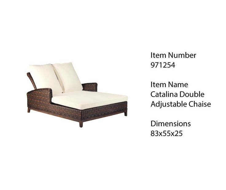 Pool Side Must Have: Patio Renaissance Catalina U2013 Double Chaise Lounge