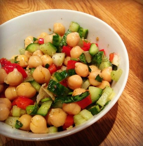 Excellente recette de salade pour l'été  Salade de pois chiche et zaatar