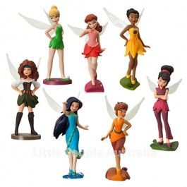 Fairy cake toppers...DISNEY The Pirate Fairy Figurine Play Set Cake Toppers Toys Kids