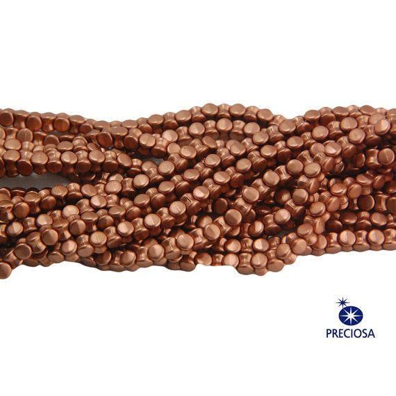 Preciosa Matte Copper Glass Czech Pellet Beads by yummytreasures