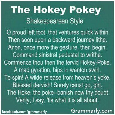 Hokey Pokey-- Shakespearean Style funny/brilliant!