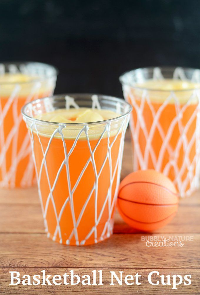 Basketball Net Cups! Easy party idea!