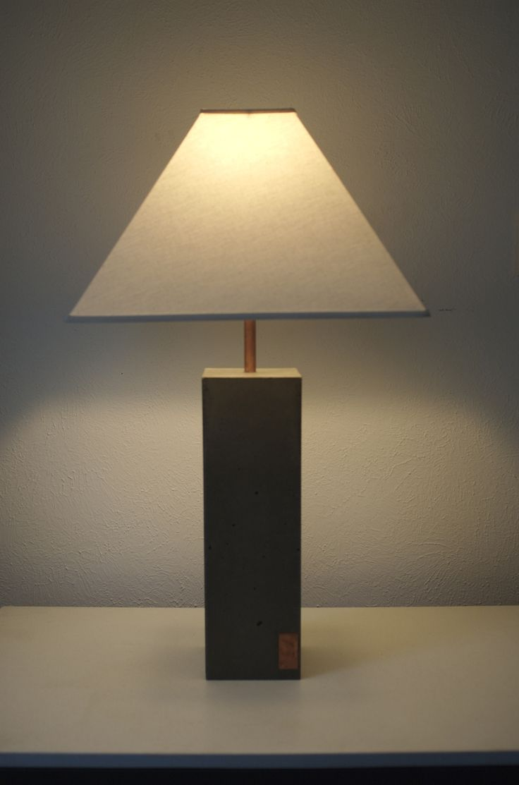 Custom Made Concrete Touch Lamp