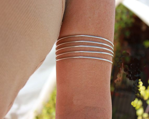 Silver Arm Cuffs are a Vikings Armband by 88Links on Etsy