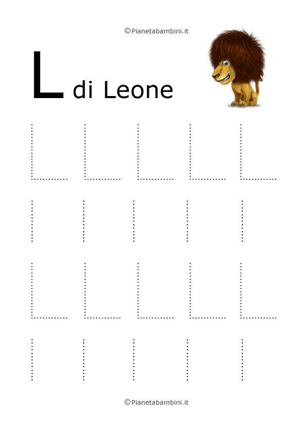 Disegni tratteggiati per imparare a scrivere le lettere dell'alfabeto maiuscole e minuscole dalla A alla Z: potrete scaricarli gratis singolarmente o in PDF