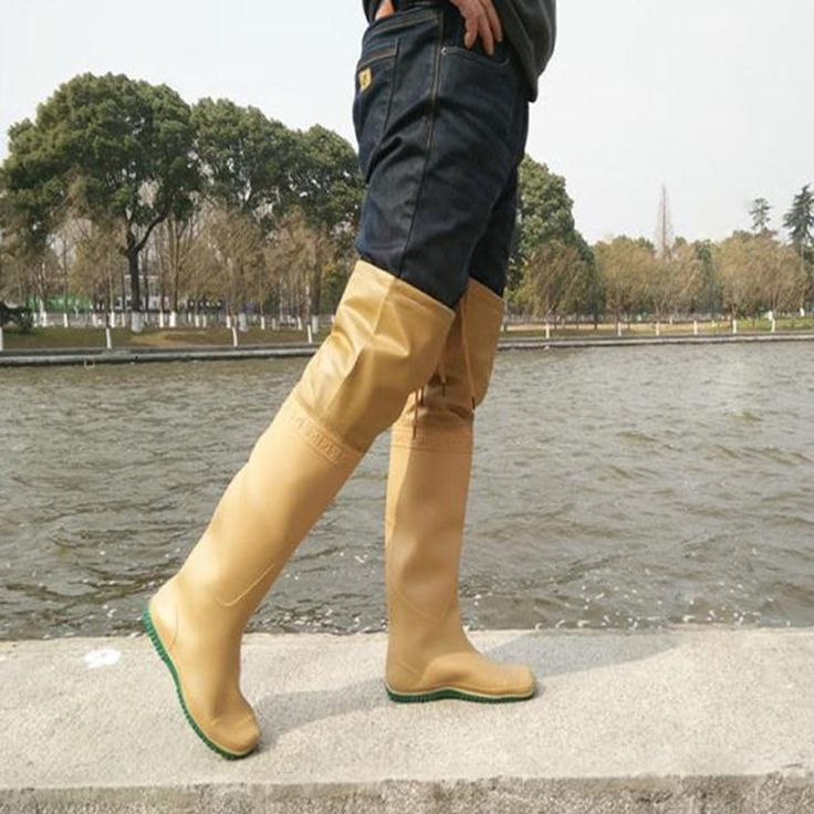 2017 Hot sale rainboots rubber wellies golden  fishing boots for men  rain boots washing bot for car rain boots galoshes free shipping worldwide