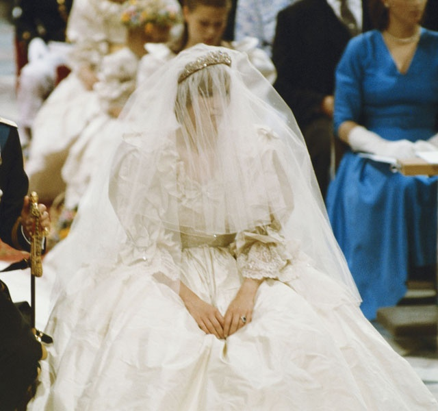 July 29, 1981    Lady Diana Spencer at St. Paul's Cathedral in London on July 29,1981.